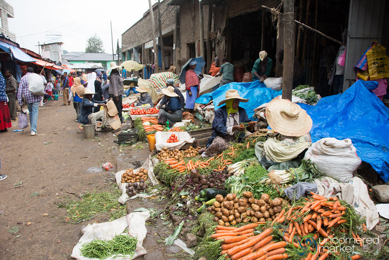 Carrots for Sale at the Merkato in Addis Ababa, Ethiopia