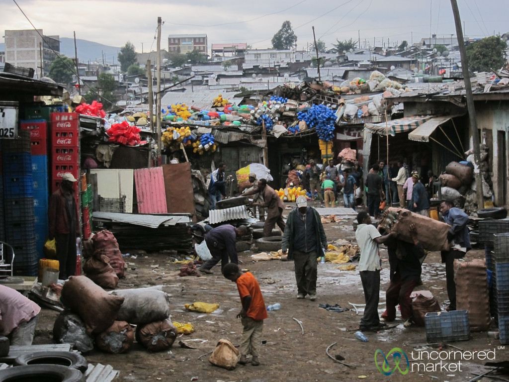 Recycling Business at the Merkato - Addis Ababa, Ethiopia
