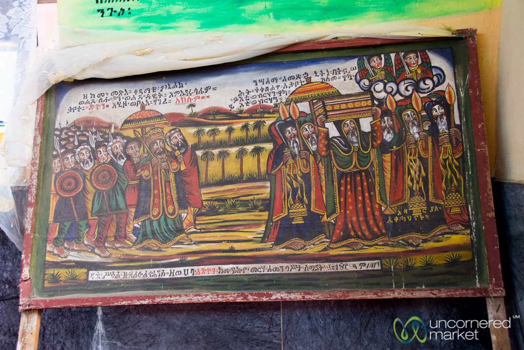 Painting Showing Journey of Ark of the Covenant from Israel to Ethiopia in Aksum