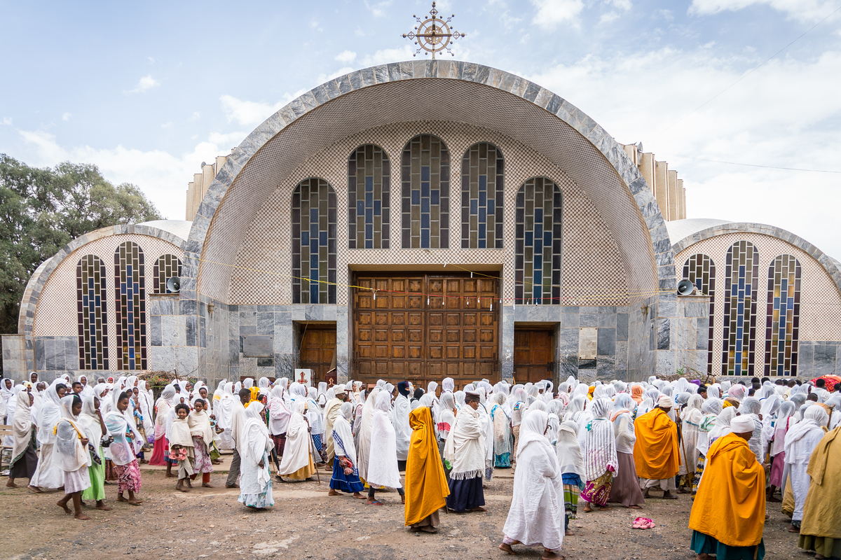 Procession in Axum, Ethiopia