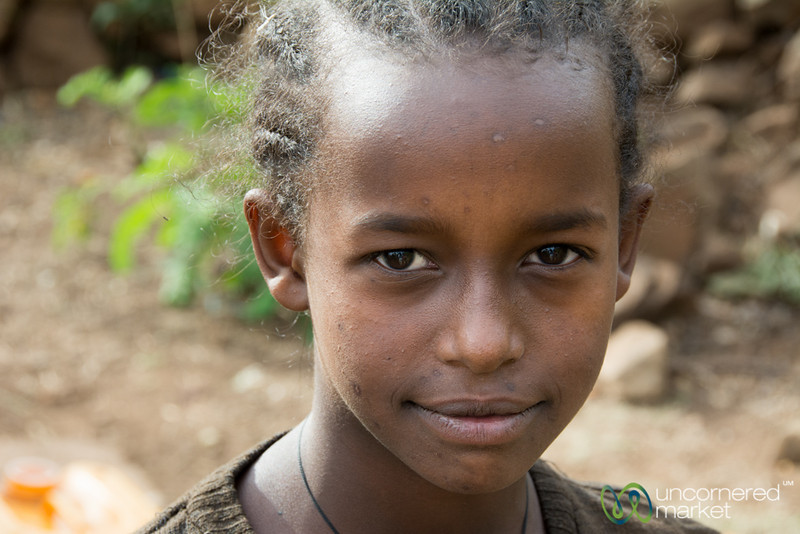 Ethiopian Girl at the Water Pump
