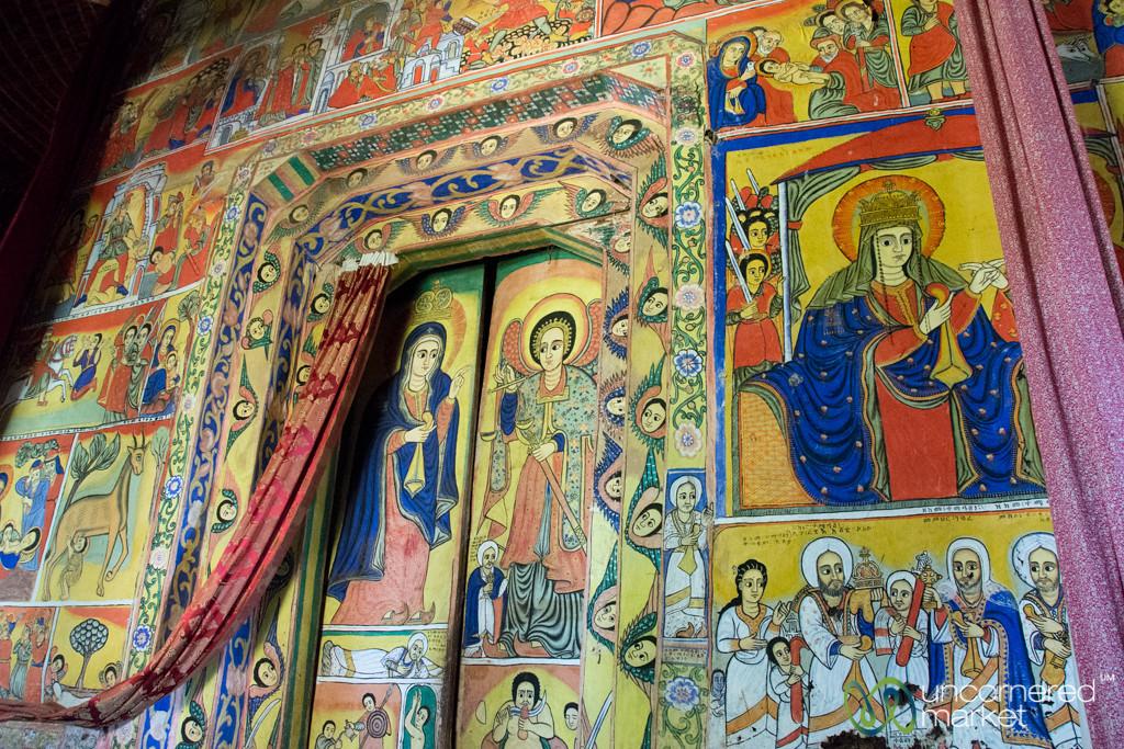 Religious Paintings Inside Ura Kidane Mehret Monastery - Bahir Dar, Ethiopia