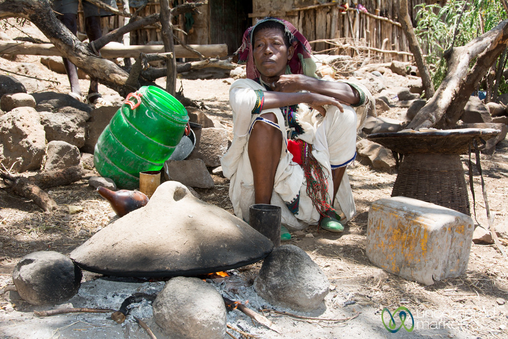 Waiting for the Injera to Cook - Bahir Dar, Ethiopia