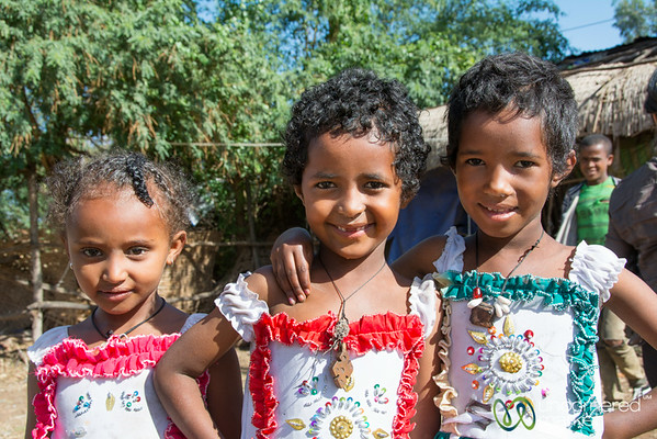 Ethiopian Girls Dressed Up for Easter - Bahir Dar, Ethiopia