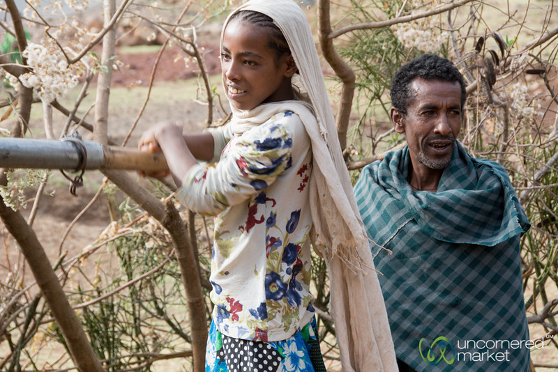 Pumping Water at a Public Well - Gondar to Bahir Dar, Ethiopia