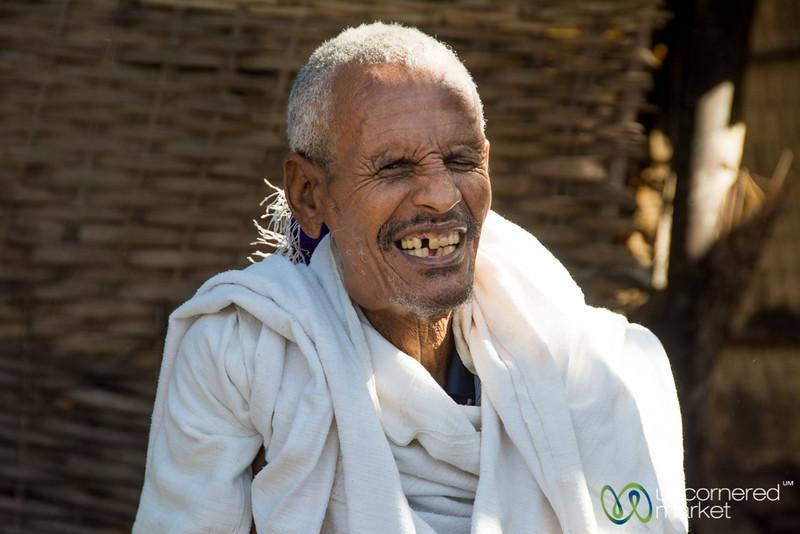 Ethiopian Man, a Good Laugh - Bahir Dar, Ethiopia