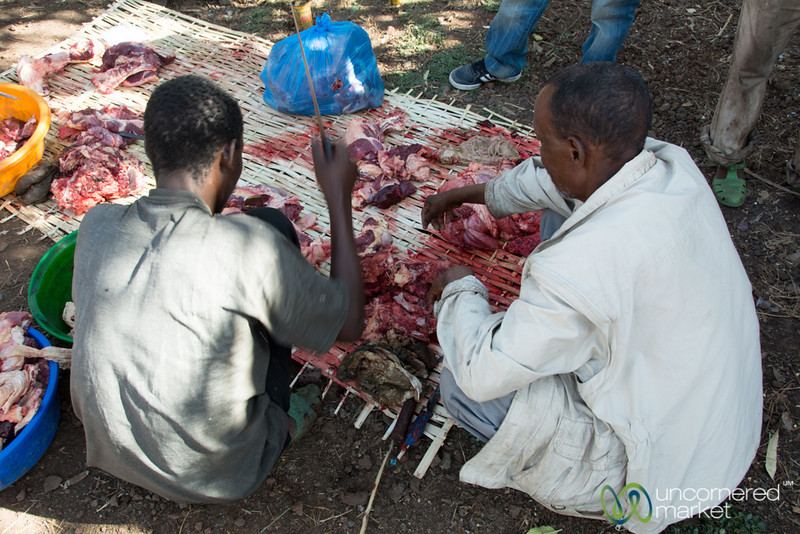 Cutting Up the Easter Cow - Bahir Dar, Ethiopia