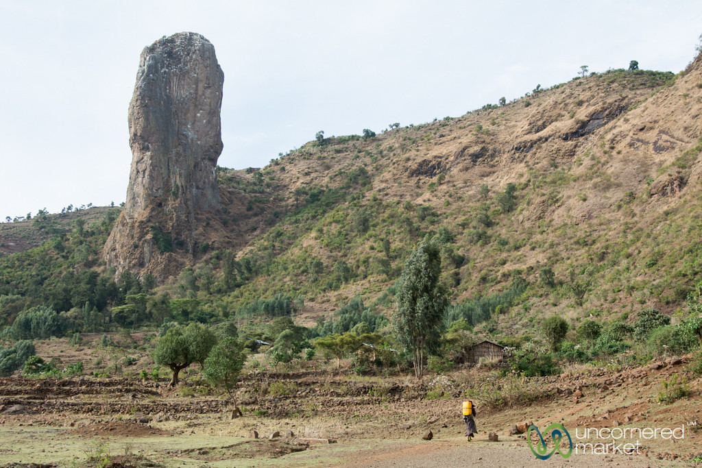 Walking Home with Jerry Can of Water - Northern Ethiopia