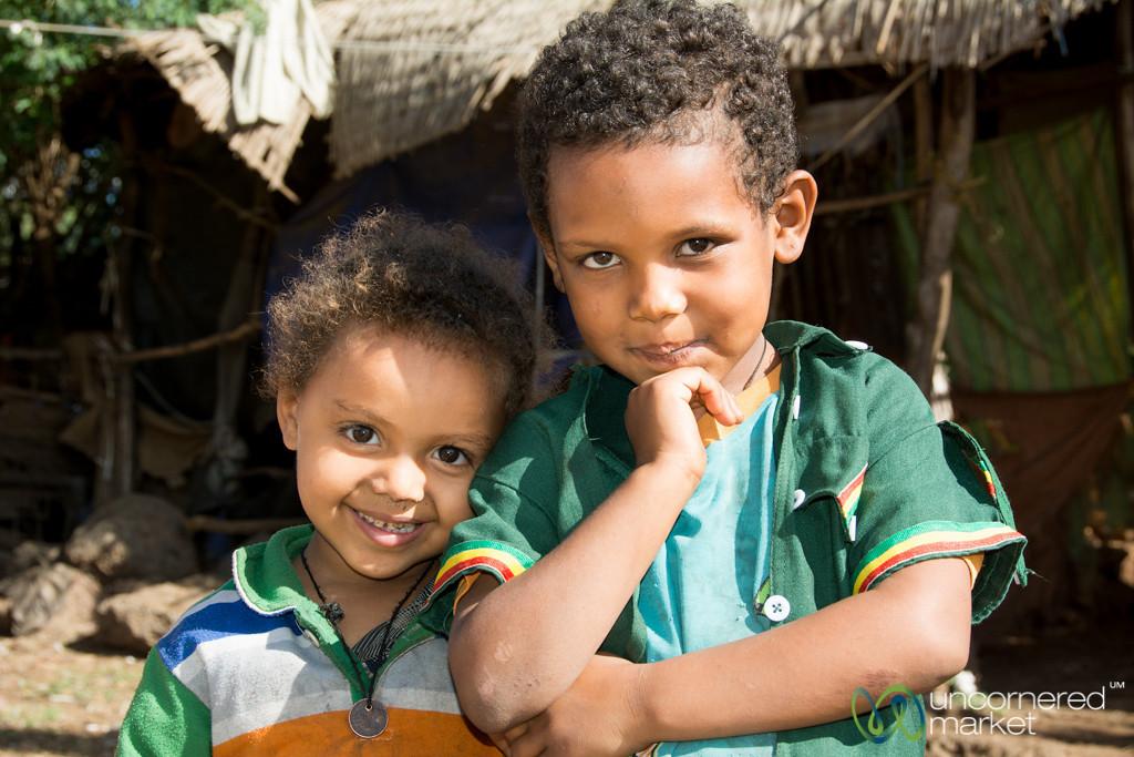 Ethiopian Brother and Sister in Bahir Dar, Ethiopia