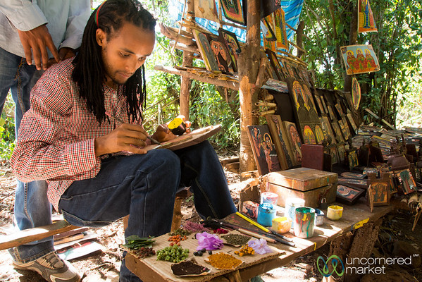 Ethiopian Artist Painting Near Bahir Dar, Ethiopia