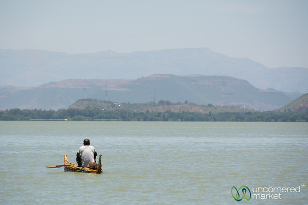 Traditional Papyrus Reed Boat - Lake Tana, Ethiopia
