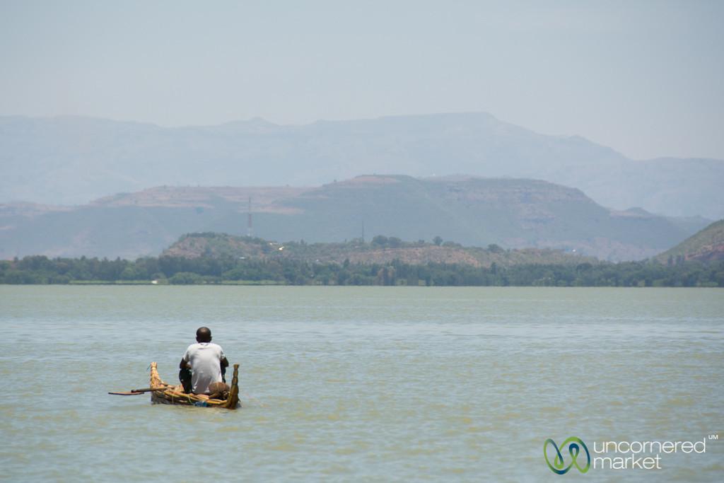 Traditional Papyrus Reed Boat - Lake Tana, Ethiopia