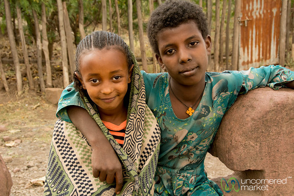 Ethiopian Girls in Lalibela, Ethiopia