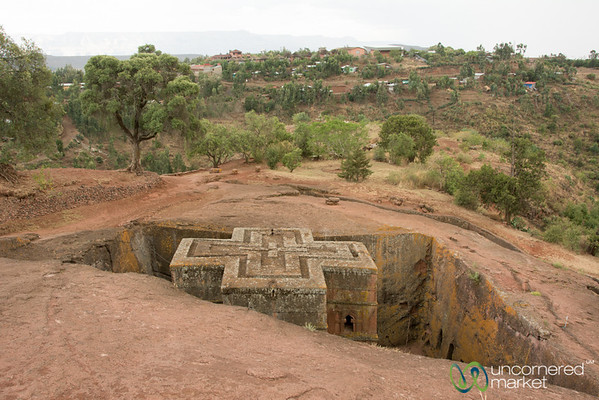 Rock Hewn Church of Saint George (Bet Giyorgis) - Lalibela, Ethiopia