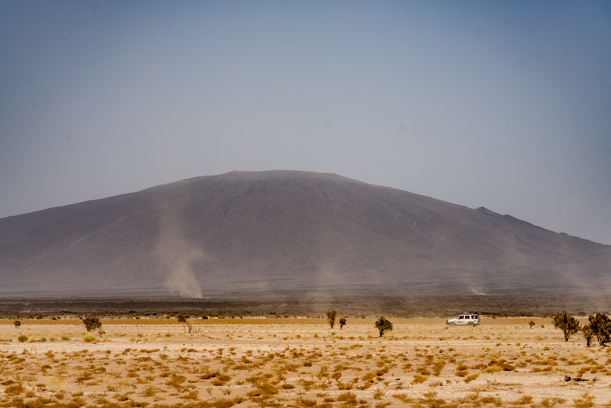 Driving in the Danakil Depression