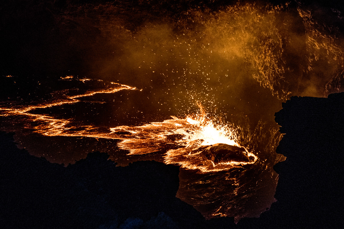 Lava in the Erta Ale volcano