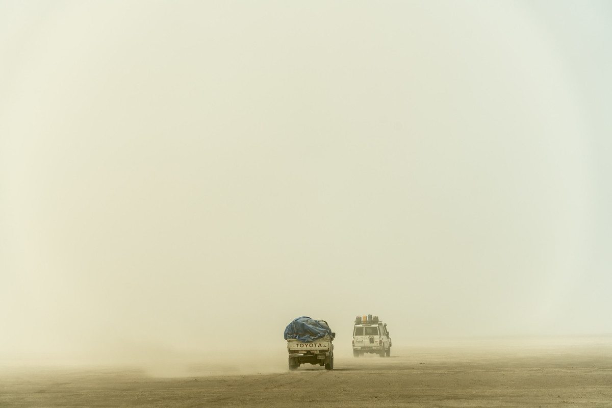 Driving in the Danikil Depression
