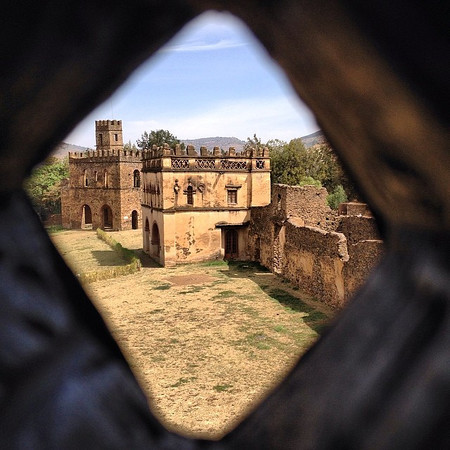 Keeping an eye on the library, Fasiladas Palace. Gondar, Ethiopia. The Italians later came to town to take over. The British subsequently bombed them in WWII. The Italians also brought pasta and espresso machines, still here today. via Instagram http://ift.tt/PErKZq