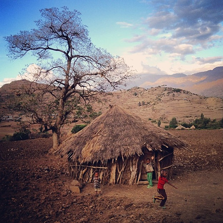 On the edge of an African sunset. En route, Yemrehanna Kristos to Lalilbela. This just might be the Ethiopia I remember most. via Instagram http://ift.tt/1pHBvH3