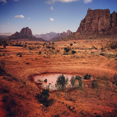 Late afternoon red clay and stone spires of Gheralta, northern Ethiopia. via Instagram http://ift.tt/Reccgt