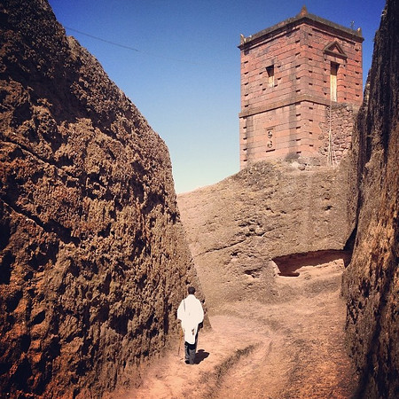 The 12th c. rock hewn alleyways of Lalibela, Ethiopia. The entire complex was built top-down by carving into the ground and cutting into the rock. via Instagram http://ift.tt/S0mb9P