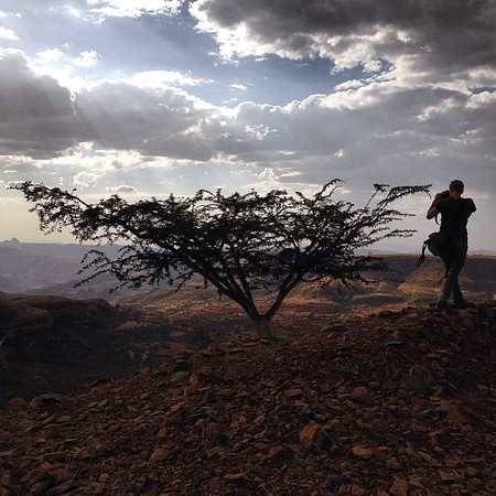 Shooting at the edge of the Adwa Mountains. Where Ethiopia defeated the Italians in 1896, thereby maintaining their status as the only African country not colonized by Europeans. via Instagram http://ift.tt/1oaTTDI