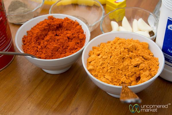 Ethiopian Cuisine, Berbere and Shiro Powder - Lalibela, Ethiopia
