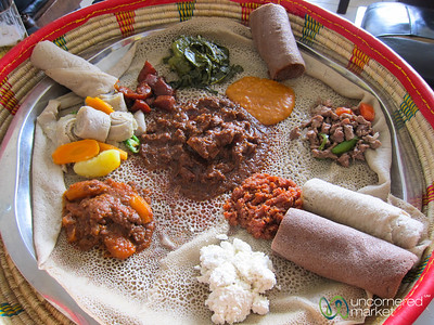 Maheberawi (Mixed Meat Platter) at Kategna Restaurant in Addis Ababa, Ethiopia