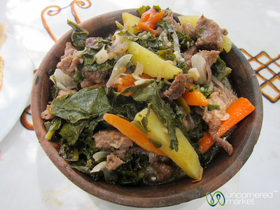 Gomen Besega (Vegetables with Beef) - Lalibela, Ethiopia