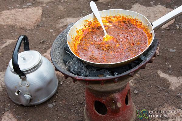 Mesir Wat (Spicy Lentil Stew) - Lalibela, Ethiopia