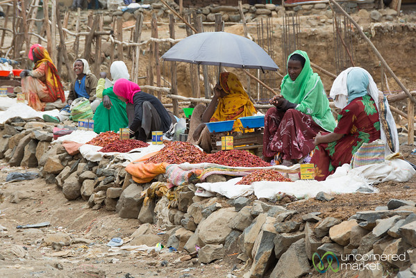Chili Peppers at the Debark Market, Ethiopia