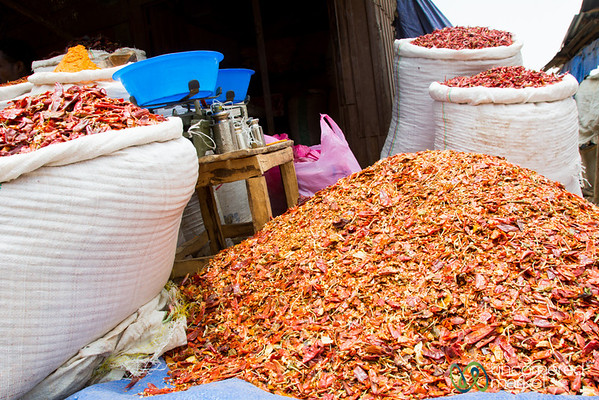 Piles and Piles of Chili Peppers - Debark Market, Ethiopia