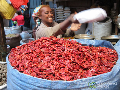 Mitmita Chili Peppers - Merkato, Addis Ababa