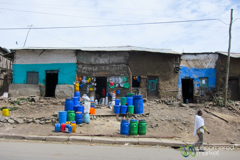 Typical Street Scene Outside Gondar, Ethiopia
