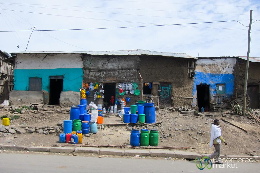 Typical Street Scene Outside Gondar, Ethiopia