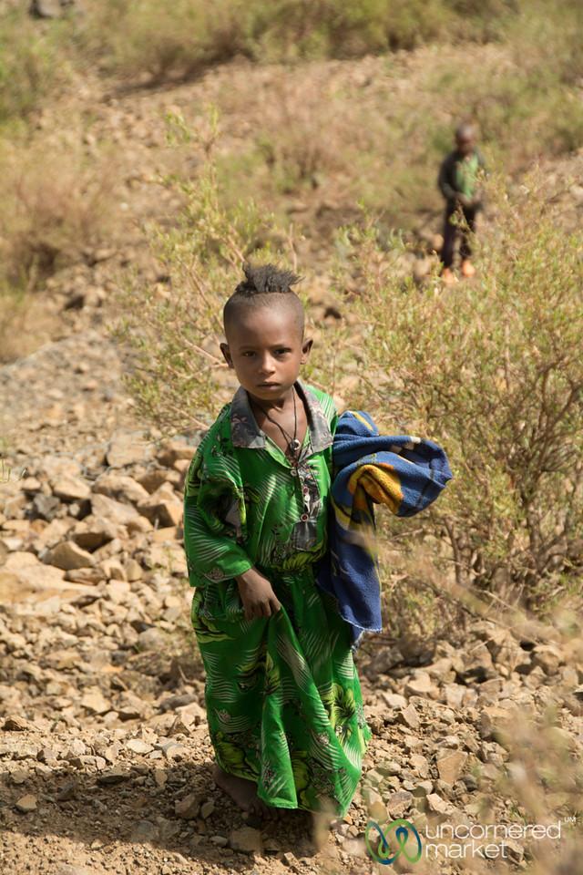 Ethiopian Girl Near Lalibela, Ethiopia