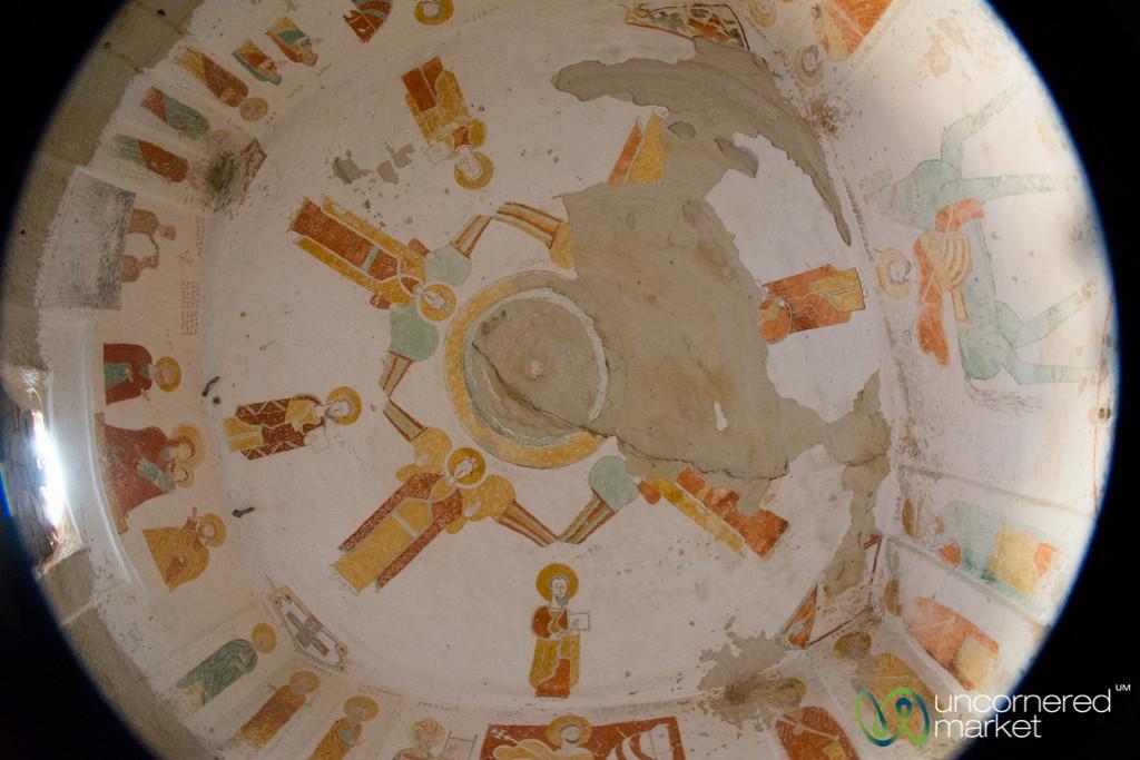Ceiling of Daniel Korkor Church in Gheralta Mountains - Tigray, Ethiopia