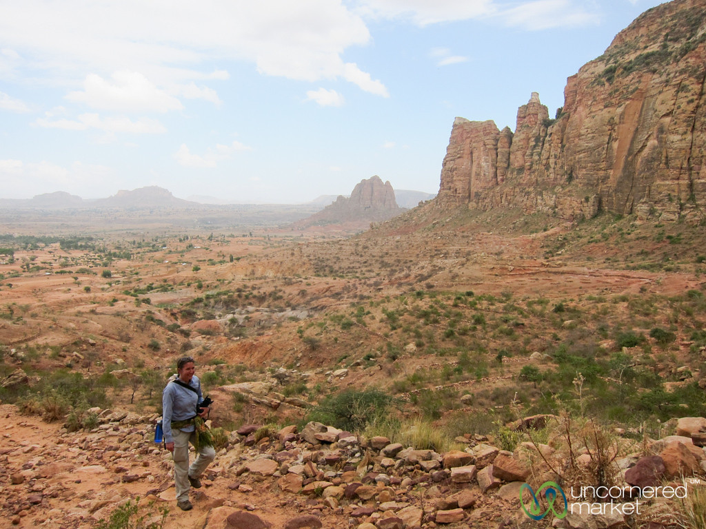 Trekking to Maryam Korkor Church in the Gheralta Mountains of Tigray, Ethiopia