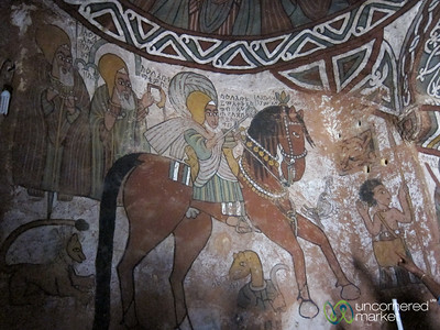 Traditional Paintings Inside Abuna Yemata Guh Church - Gheralta Mountains in Tigray, Ethiopia