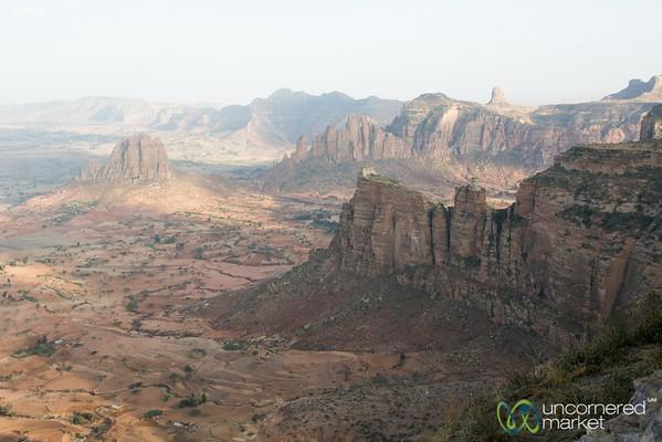 View of Gheralta Mountains from Daniel Korkor Church - Tigray, Ethiopia