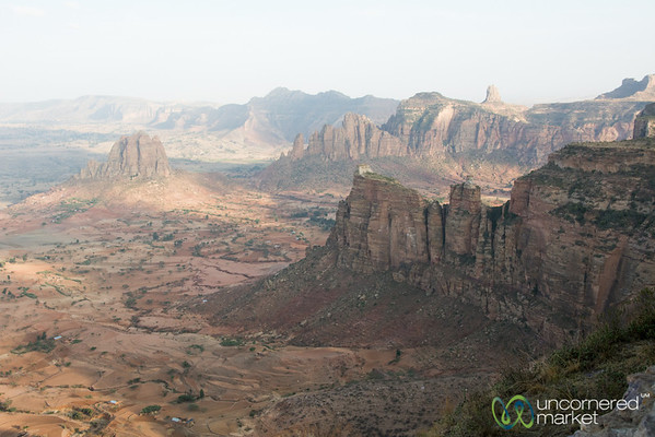 View of Gheralta Mountains from Daniel Korkor Church - Tigray, Ethiopia