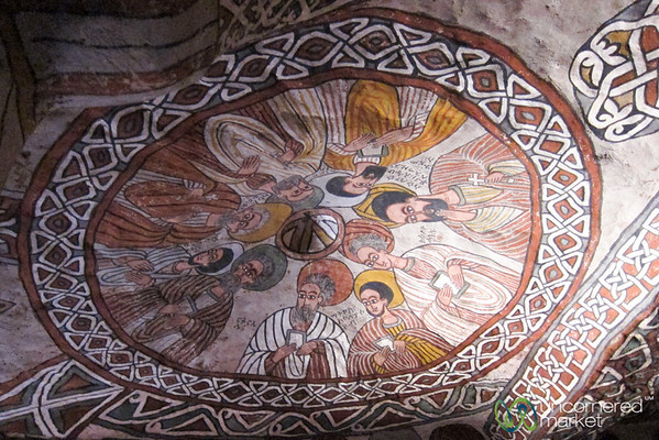 Apostles on the Ceiling of Abuna Yemata Guh Church in the Gheralta Mountains - Tigray, Ethiopia