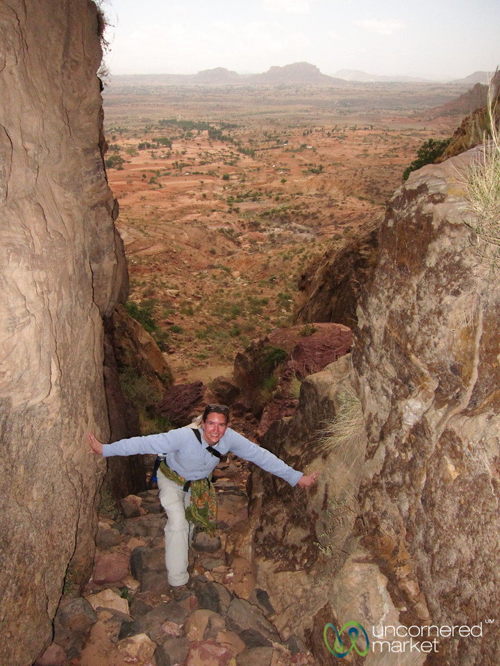 Climbing Up Through Gheralta Mountains - Tigray, Ethiopia