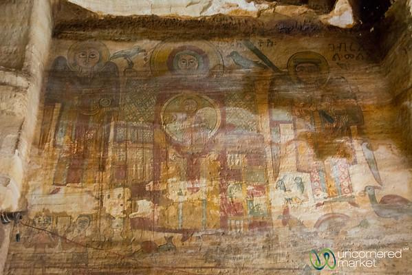 Ethiopian Orthodox Church Paintings in Maryam Korkor - Tigray, Ethiopia