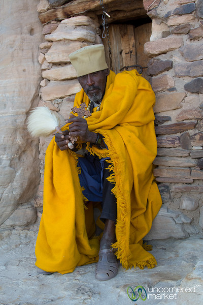 Ethiopian Orthodox Monk at Daniel Korkor Church - Tigray, Ethiopia