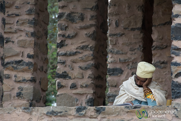 Ethiopian Priest Studying English - Gondar, Ethiopia