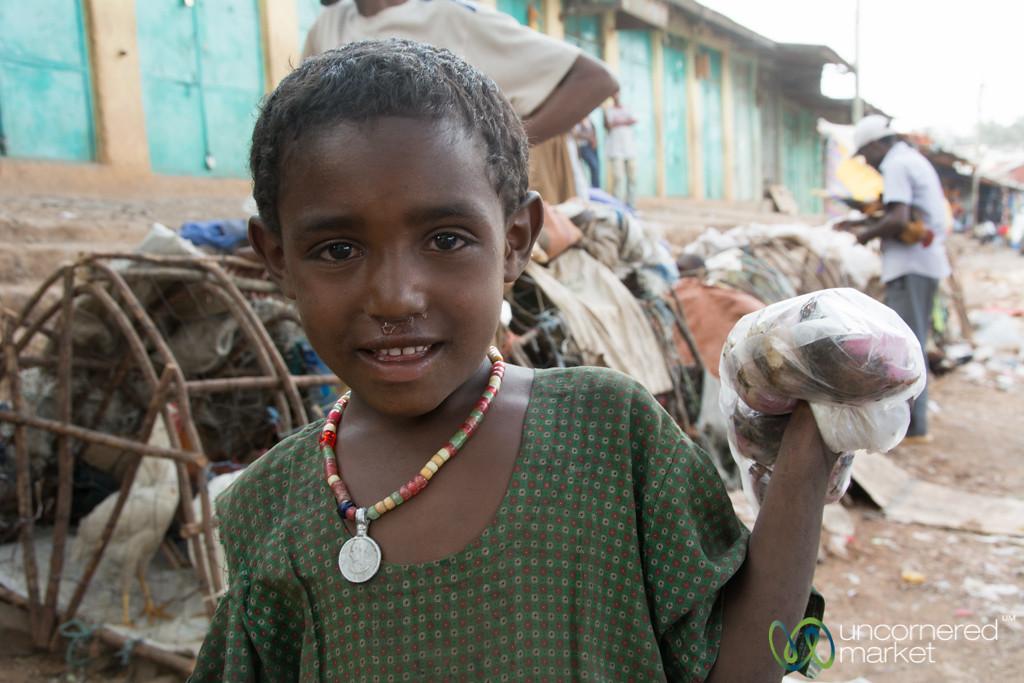A Kid at the Gondar Market - Ethiopia