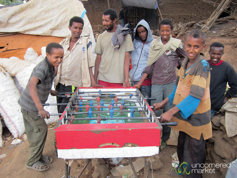 Foosball in the Streets - Gondar, Ethiopia