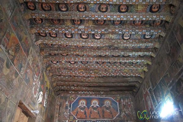 Debre Birhan Selassie Church Interior - Gondar, Ethiopia