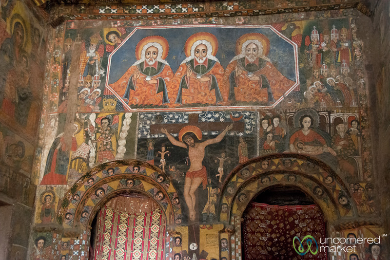 Paintings Inside Debre Birhan Selassie Church - Gondar, Ethiopia